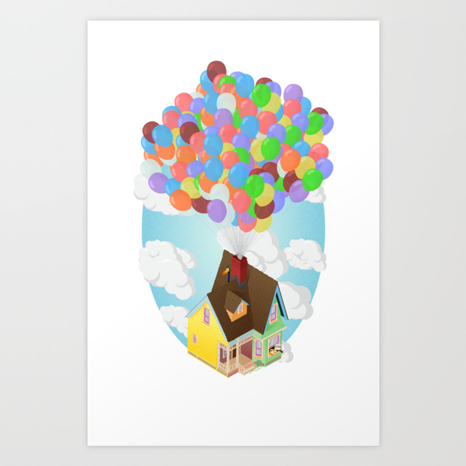 Carl S House Up Isometric Poster Art Print By Free Dlc Society6