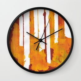 Stripes and Patches Wall Clock