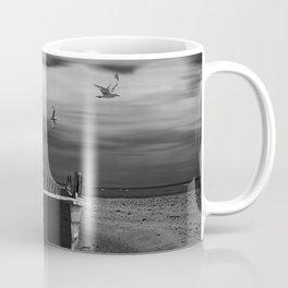 Row Boat on a Sandy Beach in Biscayne Bay Florida Coffee Mug