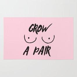 Grow a pair (of boobs) Rug