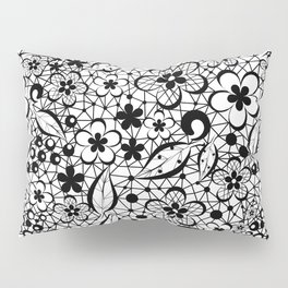 Black lace Pillow Sham