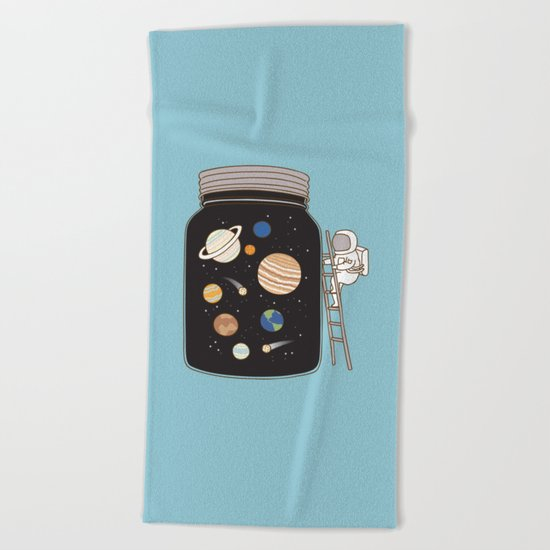 confined space Beach Towel