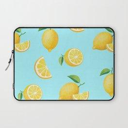 Lemons on Blue Laptop Sleeve