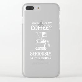 THE COFFEE SNOB AND BARISTA Clear iPhone Case