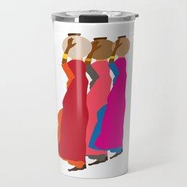 Three women carrying water 1 Travel Mug