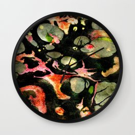 Dark Marble Wall Clock