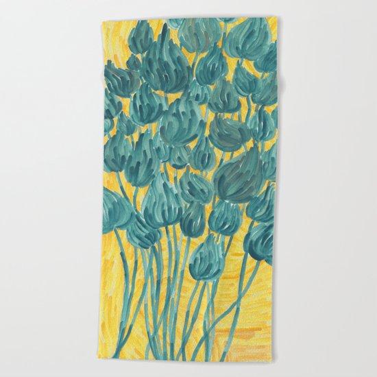 Wild Flowers Beach Towel