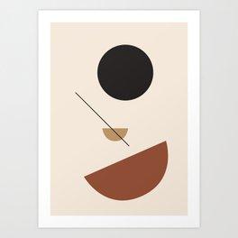 L'ascesa - On The Rise - modern abstract art hand drawn Art Print