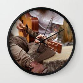 Musician in Downtown Dallas Wall Clock