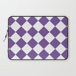 Large Diamonds - White and Dark Lavender Violet Laptop Sleeve