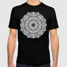 Mandala 5 Black Mens Fitted Tee MEDIUM
