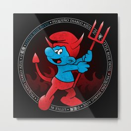 The Little Blue Devil Metal Print