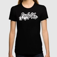 Ladylike Black Womens Fitted Tee MEDIUM