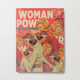 Woman Power Metal Print