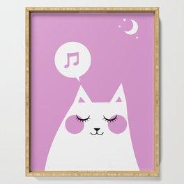 Sound Asleep Cat Serving Tray