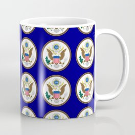 seal of usa-america,usa,eagle,patriotic,patriot,united states,seal,insignia,E pluribus unum,us Coffee Mug