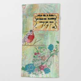 What If You Fly? Beach Towel