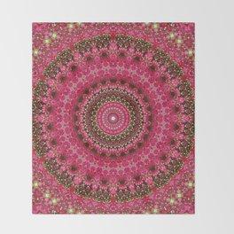 Pink Flower in Greece 2 Throw Blanket