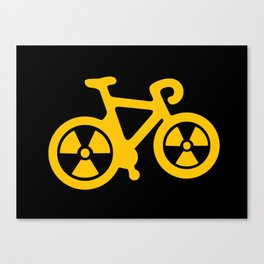 Radioactive Bicycle Canvas Print