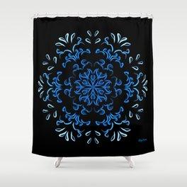 """Ka heʻenalu"" Dark Surf Shower Curtain"