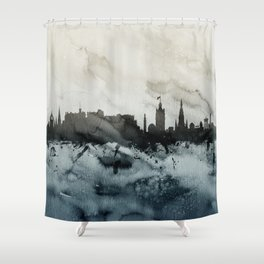 Edinburgh Scotland Skyline Shower Curtain