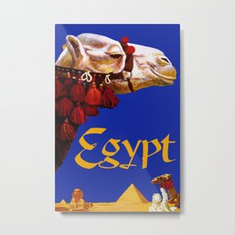 Vintage Egypt Camel Travel Metal Print