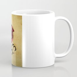 Cardinal and knuckle duster with canvas background Coffee Mug