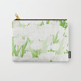 white tulips flowers watercolor Carry-All Pouch
