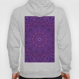 Purple Fuzzy Mandala Hoody