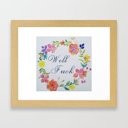 Floral Topiary Well Fuck Framed Art Print