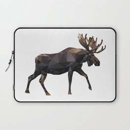 Polygon geometric Moose Laptop Sleeve