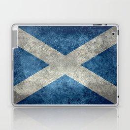 Flag of Scotland, Vintage Retro Style Laptop & iPad Skin