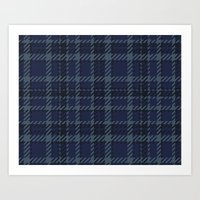 plaid Art Prints featuring Plaid by Xiao Twins