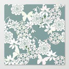 Papercut snowdrops Canvas Print
