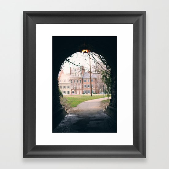 End of the Tunnel Framed Art Print