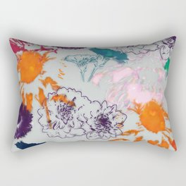 fall floral gray Rectangular Pillow