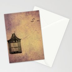 birds and freedom concept Stationery Cards