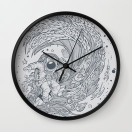 I only surf on Comets Wall Clock