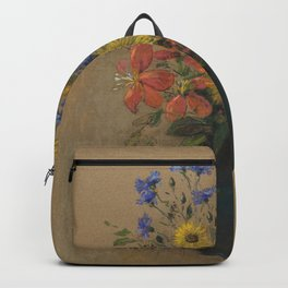 Odilon Redon - Wildflowers Backpack