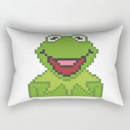 Kermit The Muppets Pixel Character Rectangular Pillow