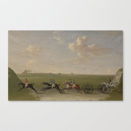 James Seymour, 1702–1752,  The Chaise Match Run on Newmarket Heath on Wednesday the 29th of August, Canvas Print