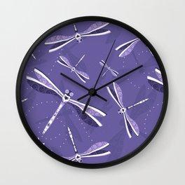 Violet lightness pattern Wall Clock