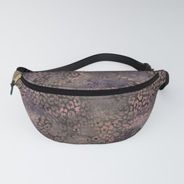 Brown Leopard Print Fanny Pack