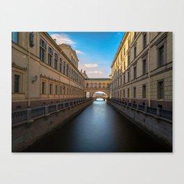 Winter Canal Saint Petersburg Canvas Print