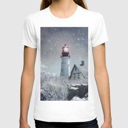 New England Winter Lighthouse T-shirt