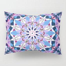 blue grey white pink purple mandala Pillow Sham