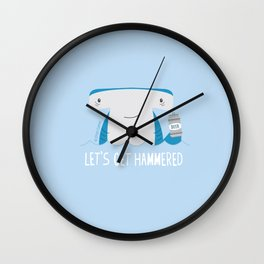 Let's Get Hammered Wall Clock
