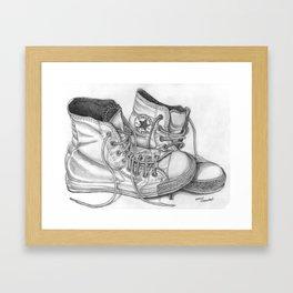 """Lazy Chucks"" Framed Art Print"