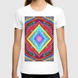 losange-geometry-baby art-bright colors-joy and energy-imagination-nursery art-hand painted T-shirt