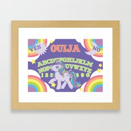 My Little Pony Ouija Board Framed Art Print